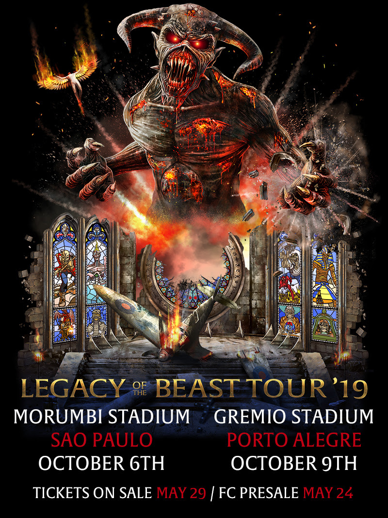 "Iron Maiden - ""Legacy Of The Beast Tour 2019"""